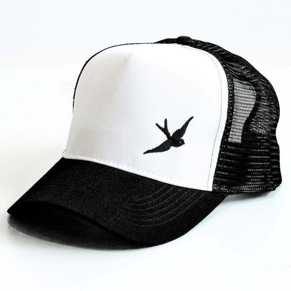 Classic Swallow Trucker Cap - Originals Collection - Black/White