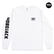 WHITE LONG SLEEVE BOX LOGO POCKET T-SHIRT