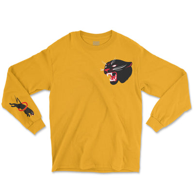 LIMITED EDITION PANTHER BY MIKE STOCKINGS - GOLD LONG SLEEVE SHIRT