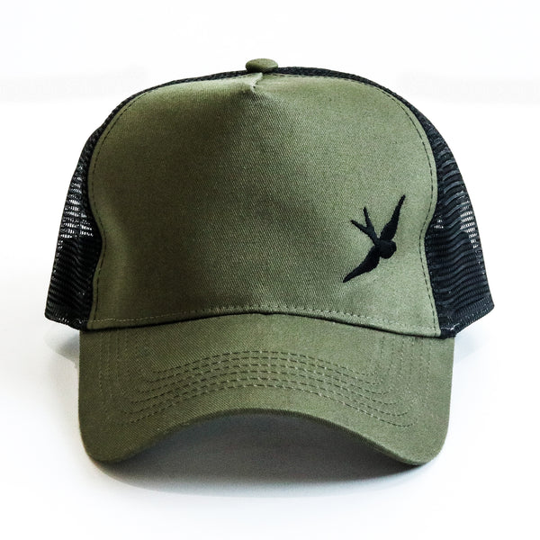 Classic Swallow Trucker Cap - Originals Collection - Military/Black