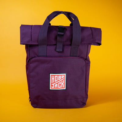 Hobo Jack 'Nomad Rolltop' Backpack Maroon