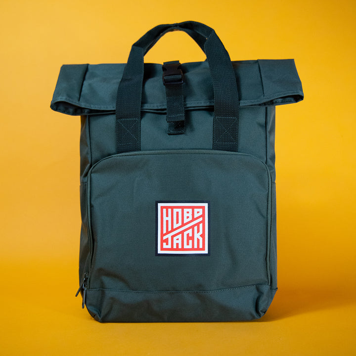 Hobo Jack 'Nomad Rolltop' Backpack Military