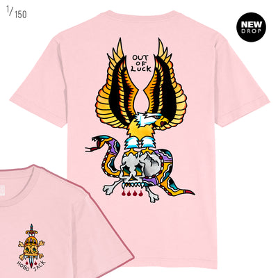 OUT OF LUCK COLLAB - EAGLE PINK T-SHIRT