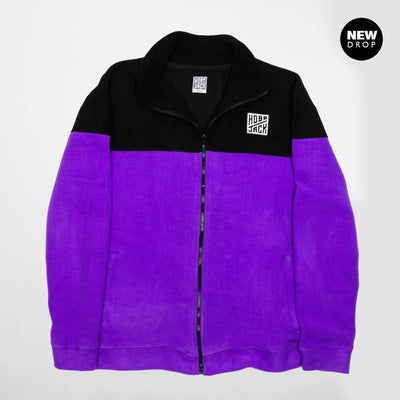 POLAR EMBROIDERED PURPLE & BLACK FLEECE