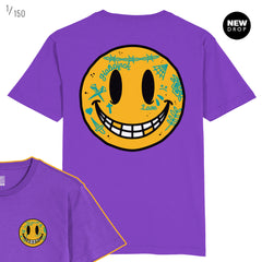DEDONLEON COLLAB - KEEP SMILING PURPLE T-SHIRT