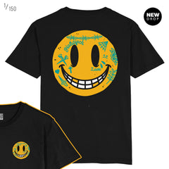 DEDONLEON COLLAB - KEEP SMILING BLACK T-SHIRT