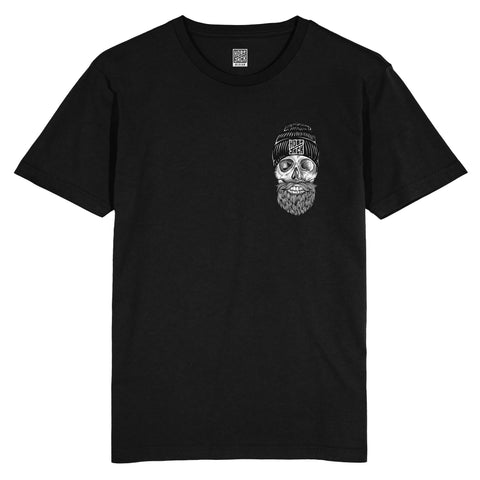 THE OLD JACK POCKET BLACK T-SHIRT
