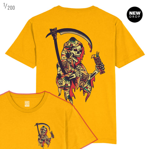 TIKI REAPER YELLOW T-SHIRT
