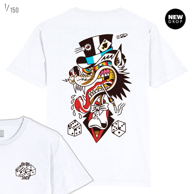 JESUS PIECES COLLAB - MR WOLF WHITE T-SHIRT