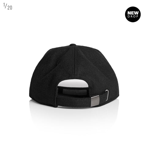 LOW PROFILE UNSTRUCTURED SIX PANEL CAP BLACK