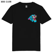 BLUE TRAD CAT T SHIRT - BLACK
