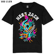 WILD DRAGON  - BLACK T SHIRT - FRONT PRINT X ASH PRICE COLLAB