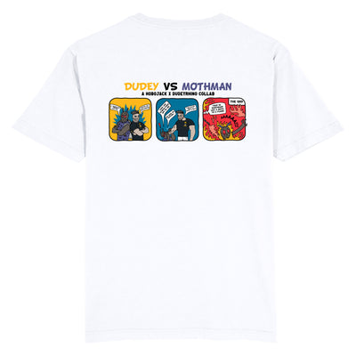 DUDEY VS MOTHMAN WHITE T-SHIRT