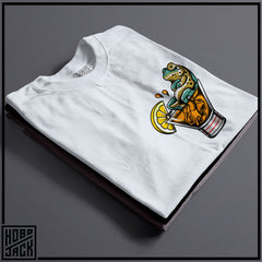 LOUNGIN FROG - WHITE POCKET T-SHIRT ~ THOMAS HERN TATTOOS COLLAB