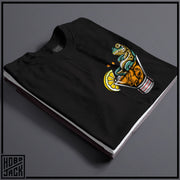 LOUNGIN FROG - BLACK POCKET T-SHIRT ~ THOMAS HERN TATTOOS COLLAB