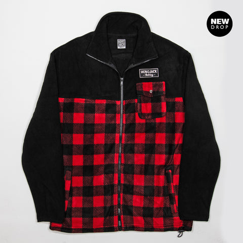 POLAR EMBROIDERED HOBO LUMBERJACK FLEECE