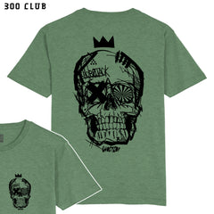 CRAZY JACK - MILITARY GREEN - FRONT & BACK - T-SHIRT