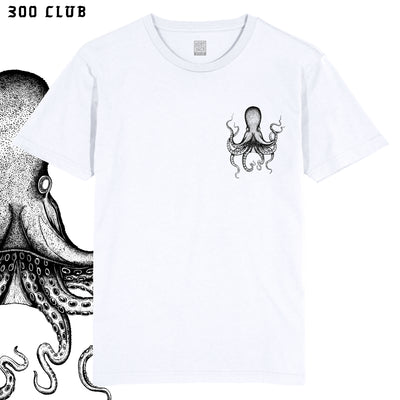 OCTOPUS TATTOO - WHITE POCKET T-SHIRT ~ BEN WILLS COLLAB