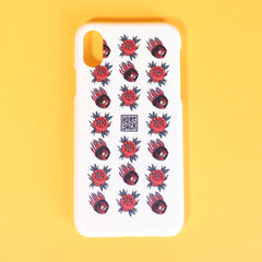 HOBO JACK OFF WHITE TRADITIONAL IPHONE X PHONE CASE