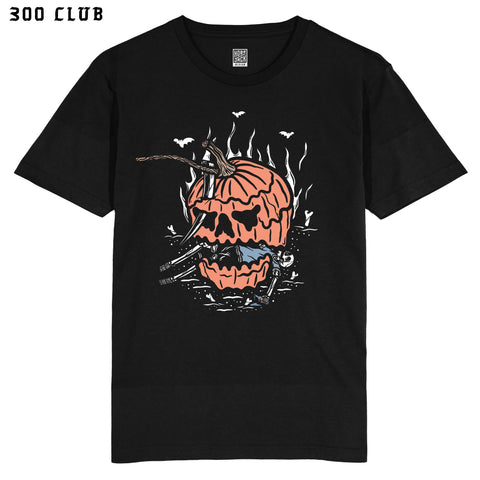 REVENGE of the PUMPKIN  - FRONT PRINT - BLACK T-SHIRT