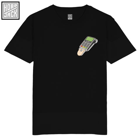 HJSB - SHRED-IT CARD - POCKET PRINT - BLACK TSHIRT - PHIL HACKETT COLLAB