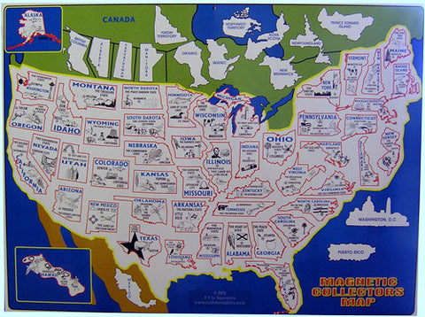 Magnetic Collectors Map - Wall Drug Store