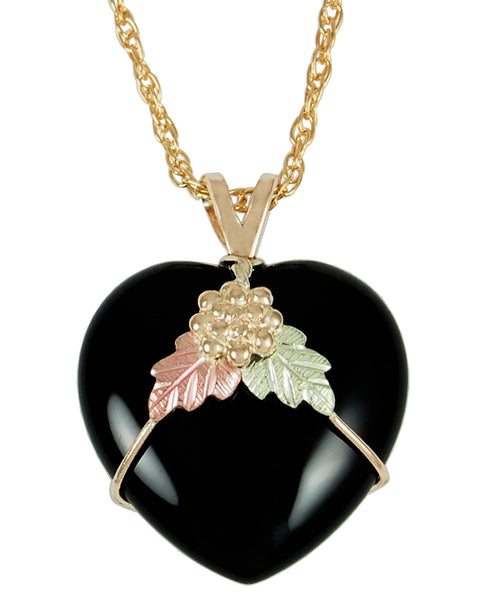 Black Hills Gold 10K Puffed Heart Pendant - Wall Drug Store