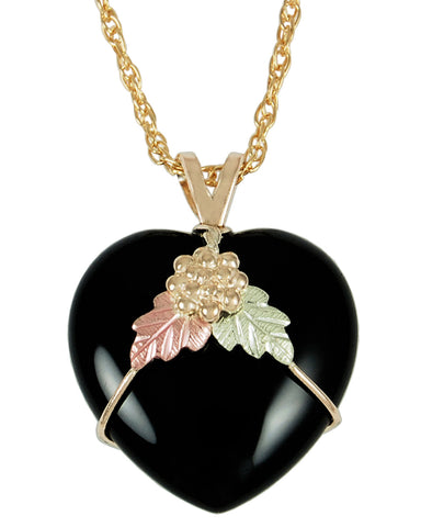 Black Hills Gold 10K Puffed Heart Pendant