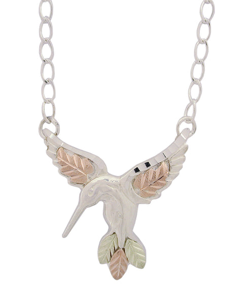 Black Hills Gold Sterling Silver Hummingbird Necklace - Wall Drug Store
