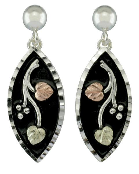 Black Hills Gold Sterling Silver Antiqued Earrings - Wall Drug Store
