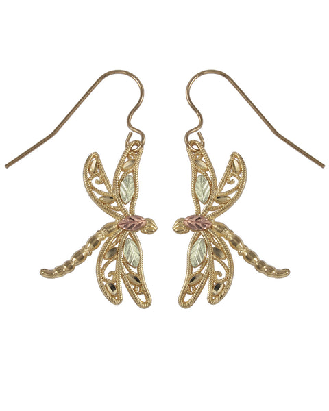 Black Hills Gold Dragon Fly Earrings