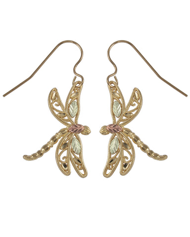Black Hills Gold Dragon Fly Earrings - Wall Drug Store