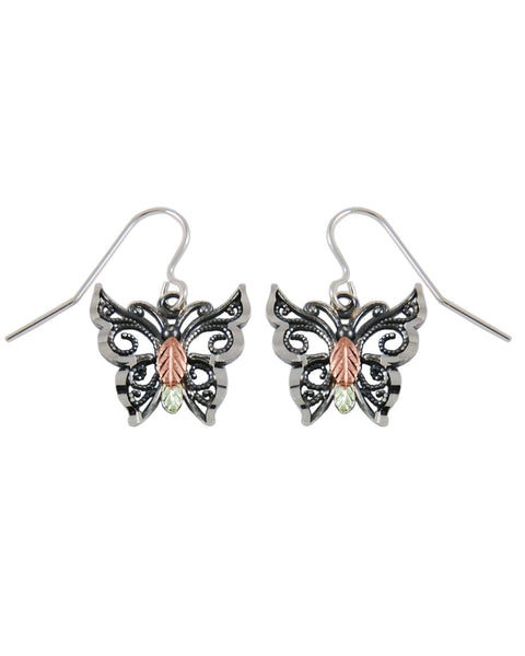 Black Hills Gold Butterfly Earrings - Wall Drug Store