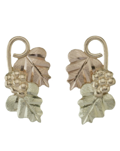 Black Hills Gold Traditional Leaf Earrings