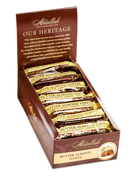 Butter Almond Toffee Bar Abdallah Candies - Wall Drug Store