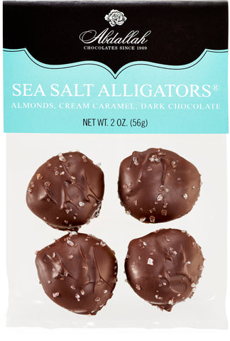 Dark Chocolate Sea Salt Alligators Abdallah Candies - Wall Drug Store