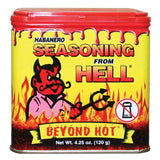 Habanero Hot Spicy Salt Free Seasoning From Hell 4.25 oz. - Wall Drug Store