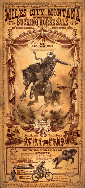 Miles City Bucking Horse Rodeo Poster - Wall Drug Store