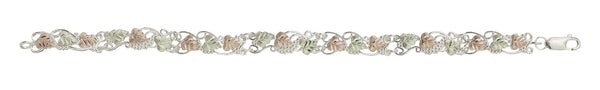 Black Hills Gold Sterling Silver Leaf Bracelet - Wall Drug Store