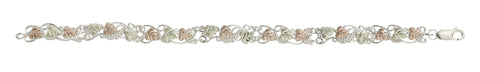 Black Hills Gold Sterling Silver Leaf Bracelet