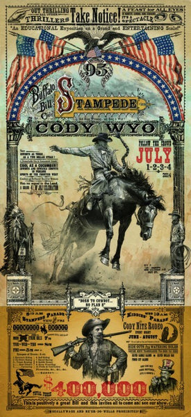 Buffalo Bill Cody Stampede Rodeo Poster - Wall Drug Store