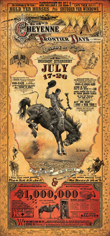 Cheyenne Frontier Days Rodeo Poster - Wall Drug Store