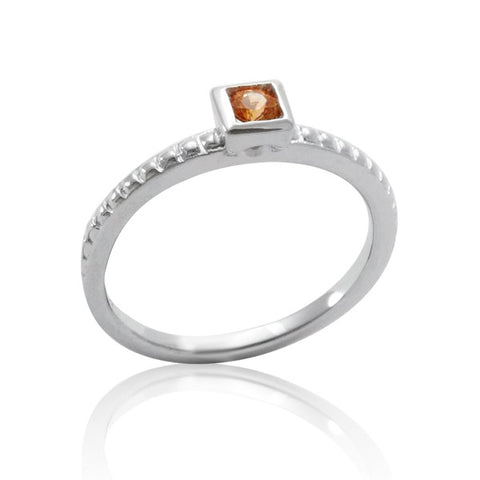 Light Orange Montana Sapphire Ring