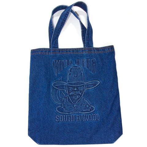 Wall Drug Cowboy Blue Denim Tote Bag - Wall Drug Store