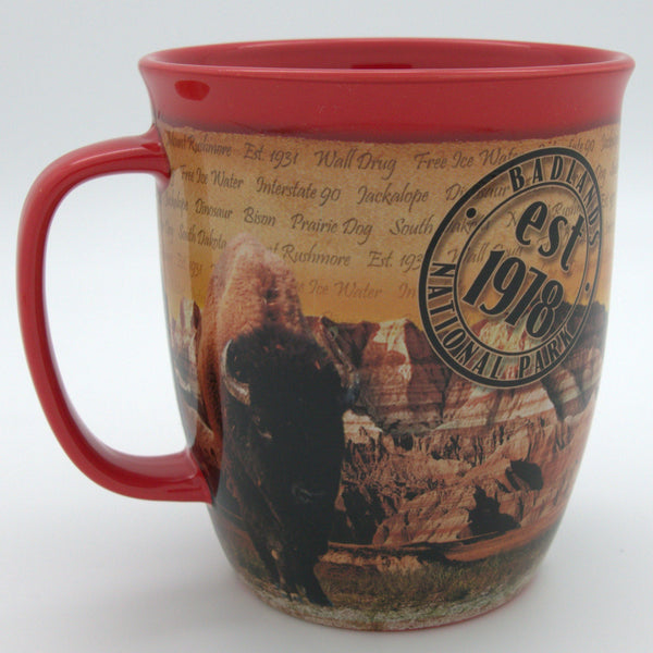 Red Badlands Scene Mug - Wall Drug Store