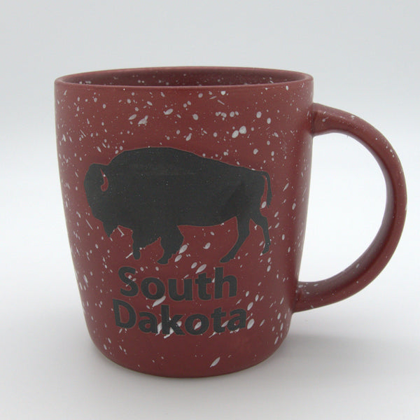 Maroon Speckled Buffalo Mug