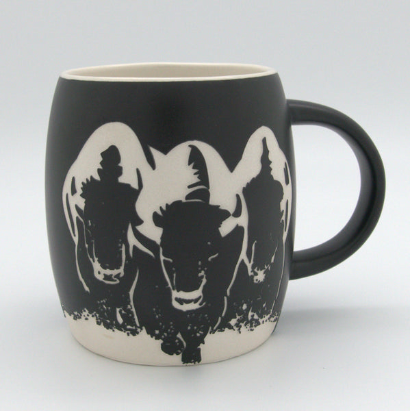 Etched Buffalo Mug