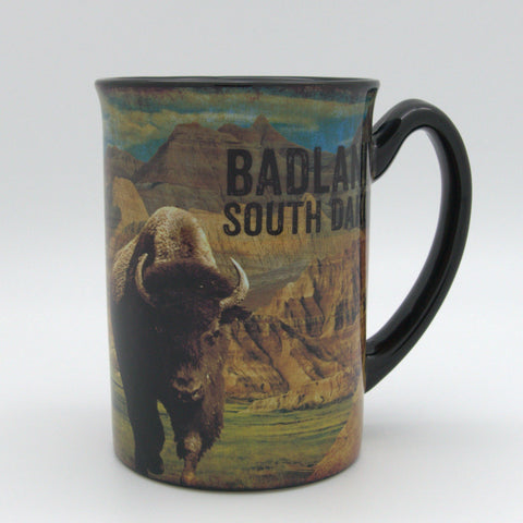 Badlands Buffalo Scene Mug