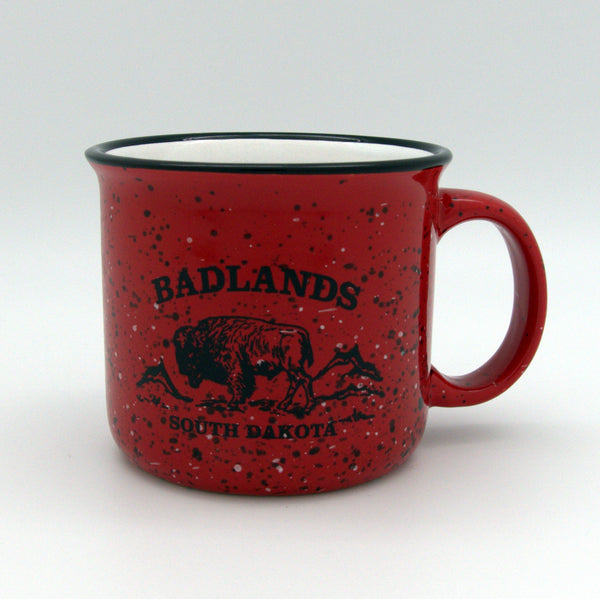 Badlands Red Camper Mug - Wall Drug Store