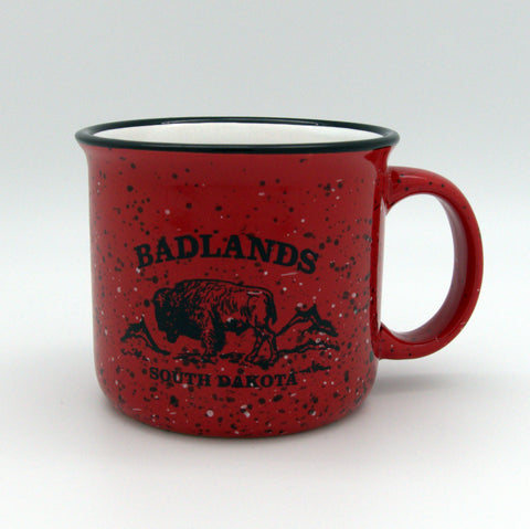Badlands Red Camper Mug